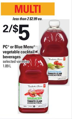 PC Or Blue Menu Vegetable Cocktail Beverages - 1.89 L