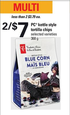 PC Kettle Style Tortilla Chips - 368 g