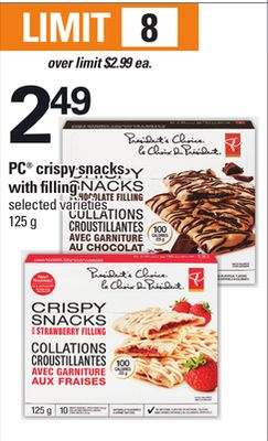 PC Crispy Snacks With Filling - 125 g