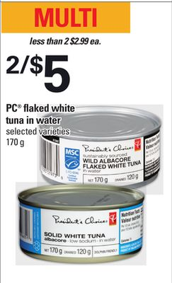 PC Flaked White Tuna In Water - 170 g