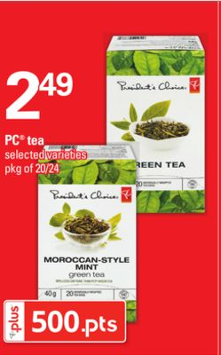 PC Tea - Pkg of 20/24