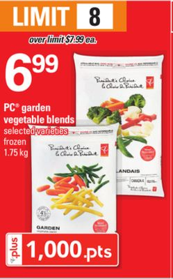 PC Garden Vegetable Blends - 1.75 Kg