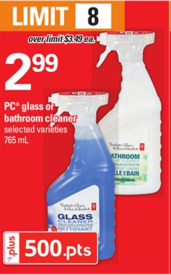 PC Glass Or Bathroom Cleaner - 765 mL