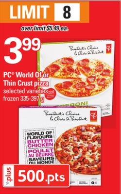 PC World Of Or Thin Crust Pizza - 335-397 g