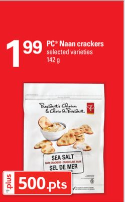 PC Naan Crackers - 142 g