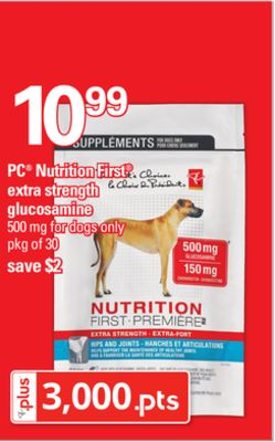 PC Nutrition First Extra Strength Glucosamine - 500 Mg - Pkg of 30