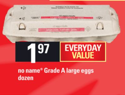 No Name Grade A Large Eggs - Dozen