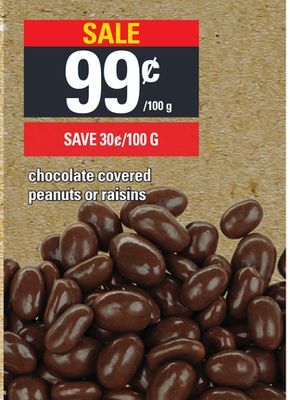Chocolate Covered Peanuts Or Raisins