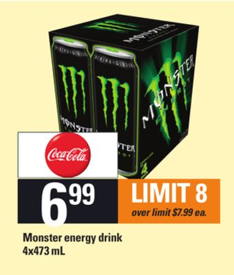 Monster Energy Drink - 4x473 mL