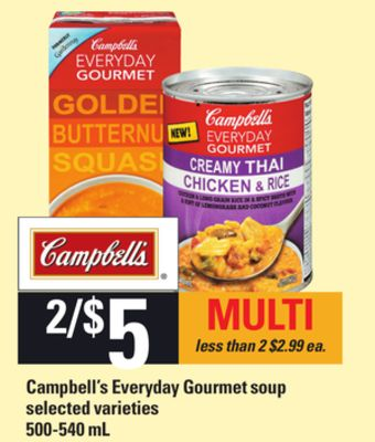 Campbell's Everyday Gourmet Soup - 500-540 mL