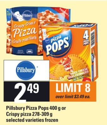 Pillsbury Pizza Pops - 400 g or Crispy Pizza - 278-309 g
