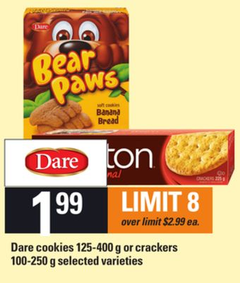 Dare Cookies - 125-400 g Or Crackers - 100-250 g