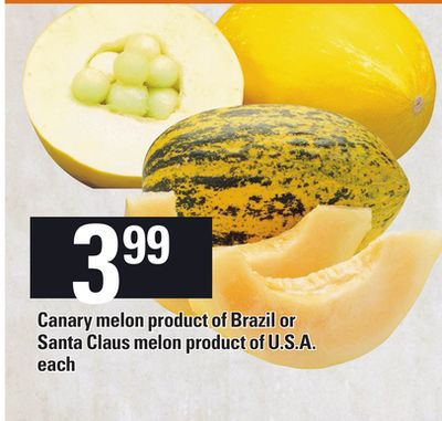 Canary Melon Product Of Brazil Or Santa Claus Melon