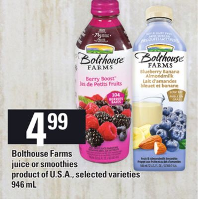 Bolthouse Farms Juice Or Smoothies - 946 mL