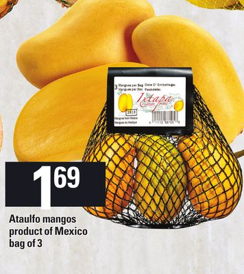 Ataulfo Mangos - Bag of 3