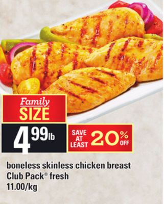 Boneless Skinless Chicken Breast Club Pack