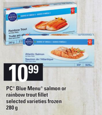 PC Blue Menu Salmon Or Rainbow Trout Fillet - 280 g