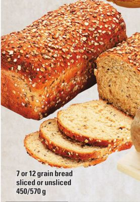 7 Or 12 Grain Bread Sliced Or Unsliced - 450/570 g