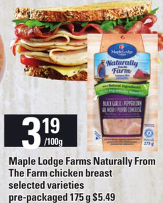 Maple Lodge Farms Naturally From The Farm Chicken Breast.