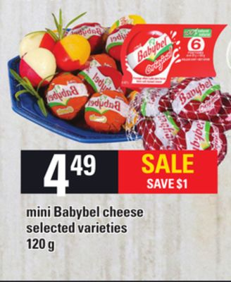 Mini Babybel Cheese - 120 g
