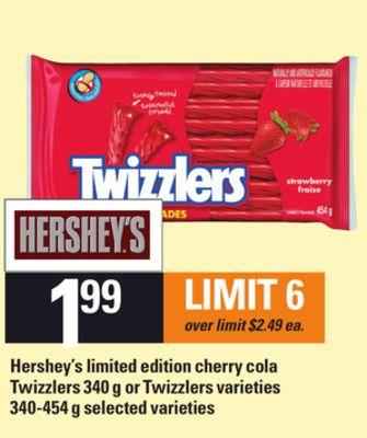 Hershey's Limited Edition Cherry Cola Twizzlers 340 G Or Twizzlers - 340-454 g