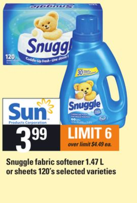 Snuggle Fabric Softener 1.47 L Or Sheets 120's