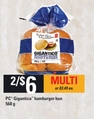PC Gigantico Hamburger Bun - 568 g