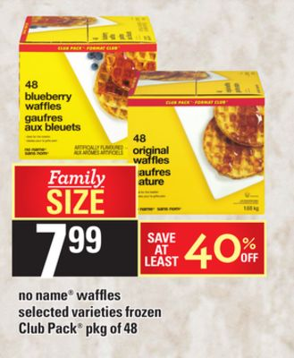 No Name Waffles - Pkg of 48