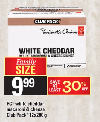 PC White Cheddar Macaroni & Cheese Club Pack - 12x200 g