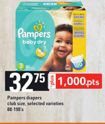 Pampers Diapers - 88-198's