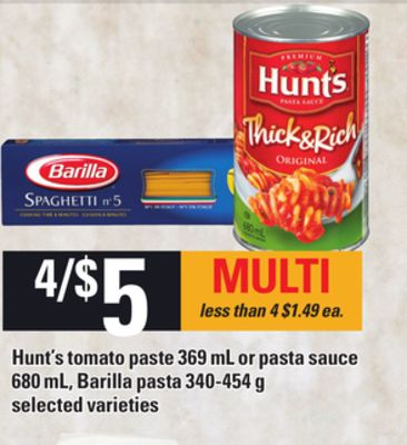 tomato and cheese hunt s tomato paste 369 ml or pasta on salewhale ca 11883