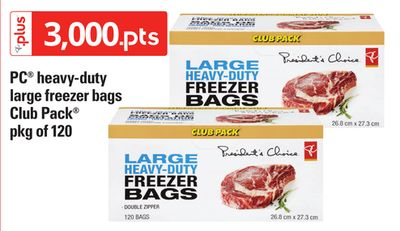 PC Heavy-duty Large Freezer Bags Club Pack - Pkg of 120