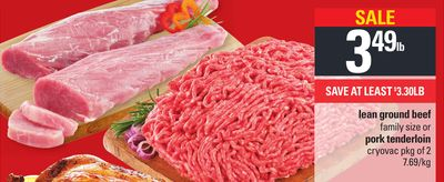 Lean Ground Beef Or Pork Tenderloin - Pkg of 2