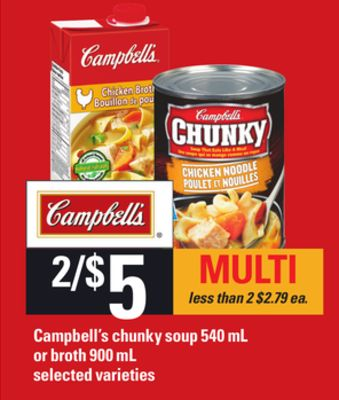 Campbell's Chunky Soup 540 Ml Or Broth 900 Ml