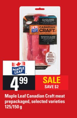 Maple Leaf Canadian Craft Meat - 125/150 g