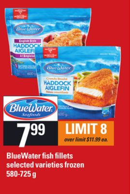 Bluewater Fish Fillets - 580-725 G