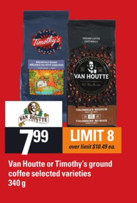 Van Houtte Or Timothy's Ground Coffee - 340 g
