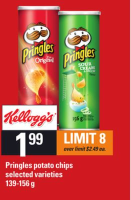 Pringles Potato Chips - 139-156 G