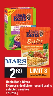 Uncle Ben's Bistro Express Side Dish Or Rice And Grains - 170-250 g