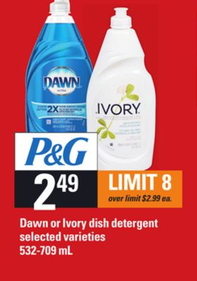 Dawn Or Ivory Dish Detergent - 532-709 mL