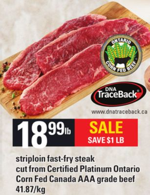 Striploin Fast-fry Steak