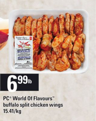 PC World Of Flavours Buffalo Split Chicken Wings