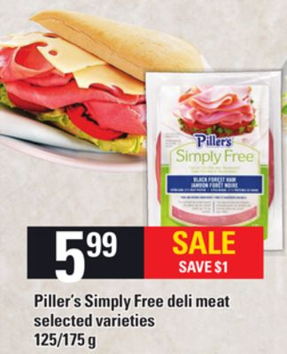 Piller's Simply Free Deli Meat - 125/175 g