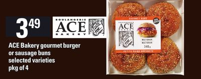Ace Bakery Gourmet Burger Or Sausage Buns - Pkg of 4