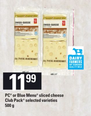 PC Or Blue Menu Sliced Cheese - 500 g