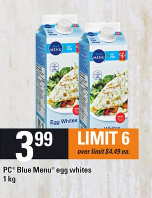 PC Blue Menu Egg Whites - 1 Kg
