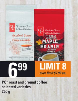 PC Roast And Ground Coffee - 250 g