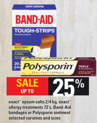 Exact Epsom Salts 2/4 Kg - Exact Allergy Treatments 72's - Band-aid Bandages Or Polysporin Ointment