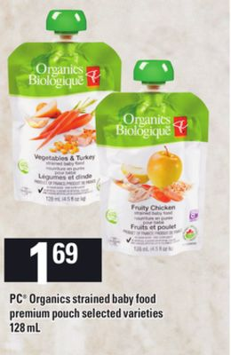 PC Organics Strained Baby Food Premium Pouch - 128 mL