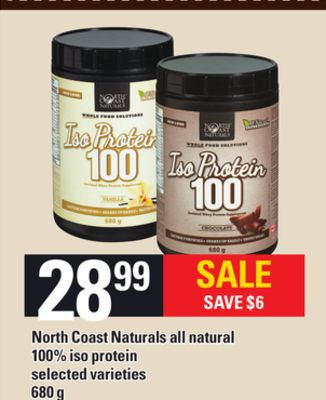 North Coast Naturals All Natural 100% Iso Protein - 680g